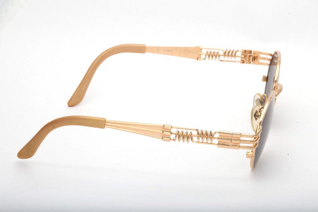 Jean Paul Gaultier 56-6106 Gold Sunglasses For Sale 2