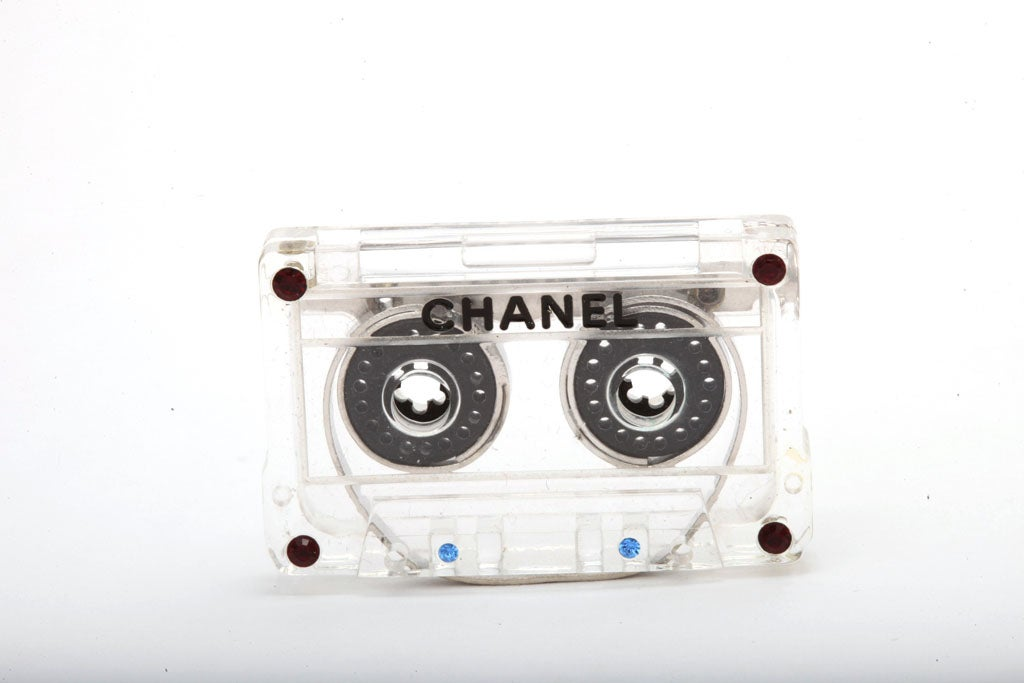 Chanel Mini Cassette Tape Motif Brooch 2