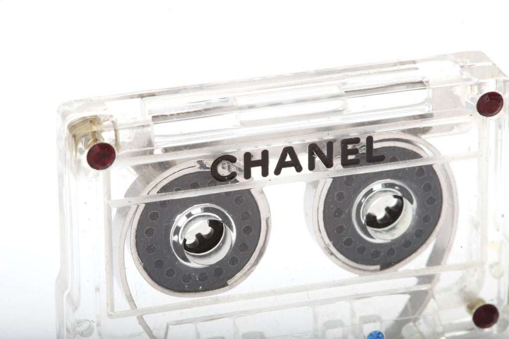 Chanel Mini Cassette Tape Motif Brooch 5