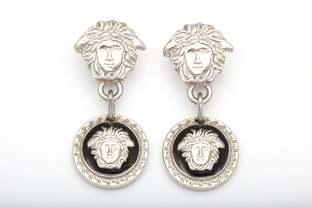 Gianni Versace Medusa Earrings Silver 2