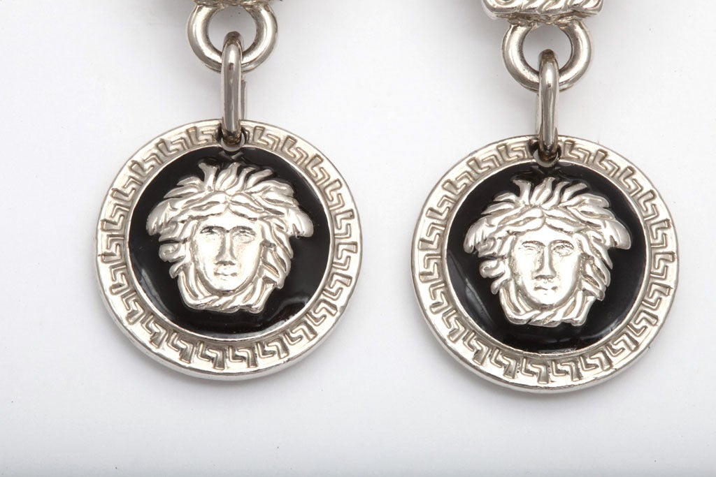 Gianni Versace Medusa Earrings Silver 3