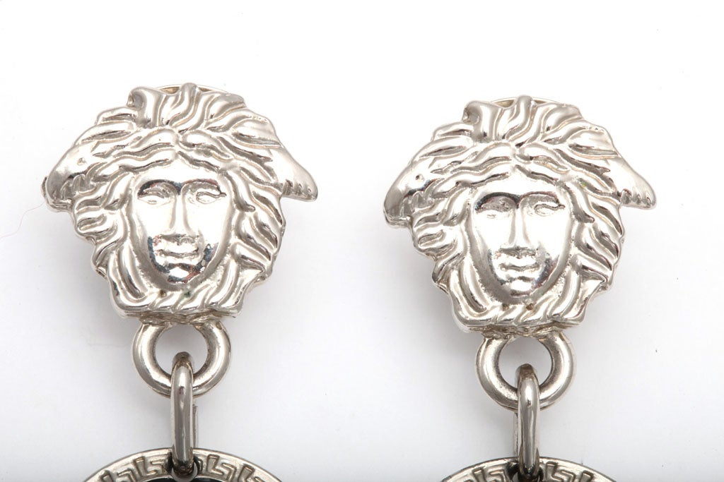 Gianni Versace Medusa Earrings Silver 4