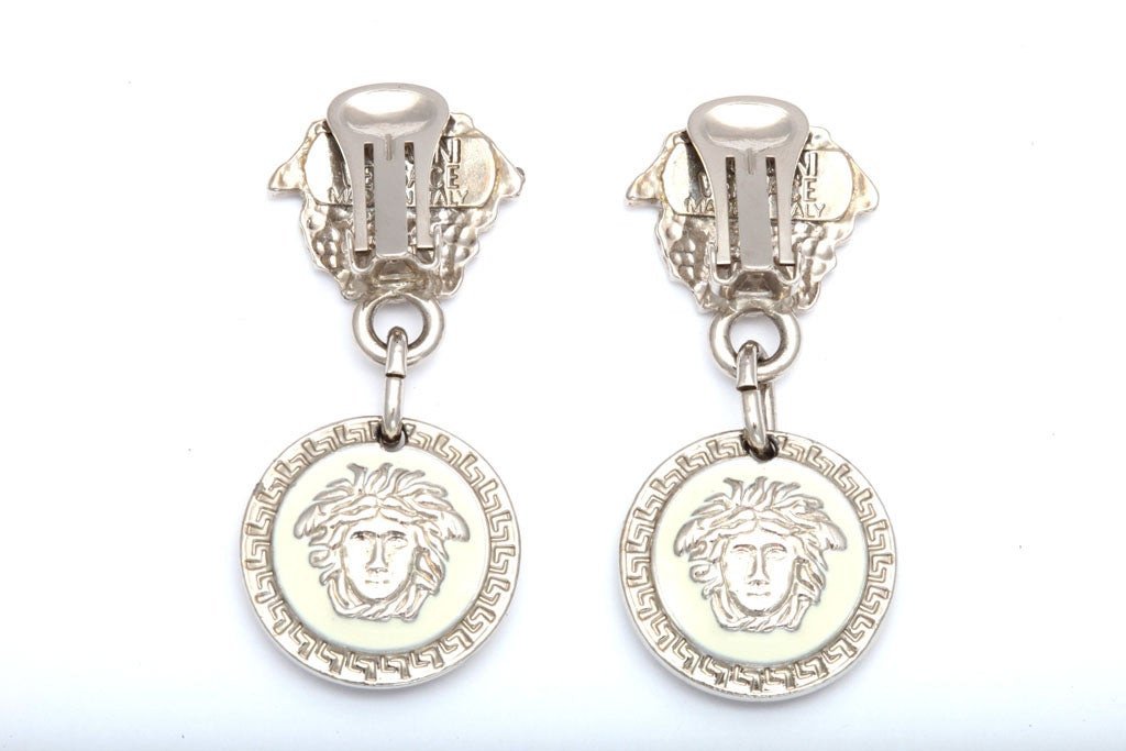 Gianni Versace Medusa Earrings Silver 5