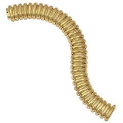 Gold Accordion Bracelet