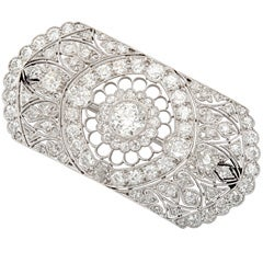 Marcus & Co. Diamond Platinum Filagree Brooch