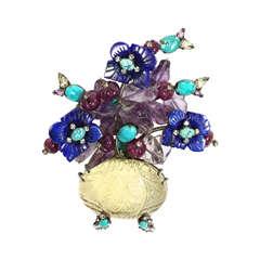 Iradj Moini Floral Brooch