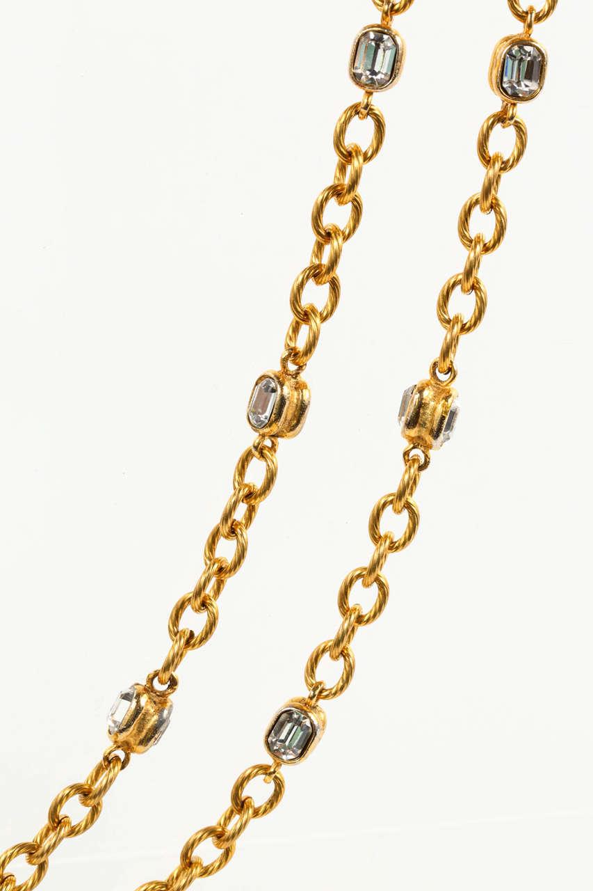 Chanel Gold Chain and Crystal Sautoir 3