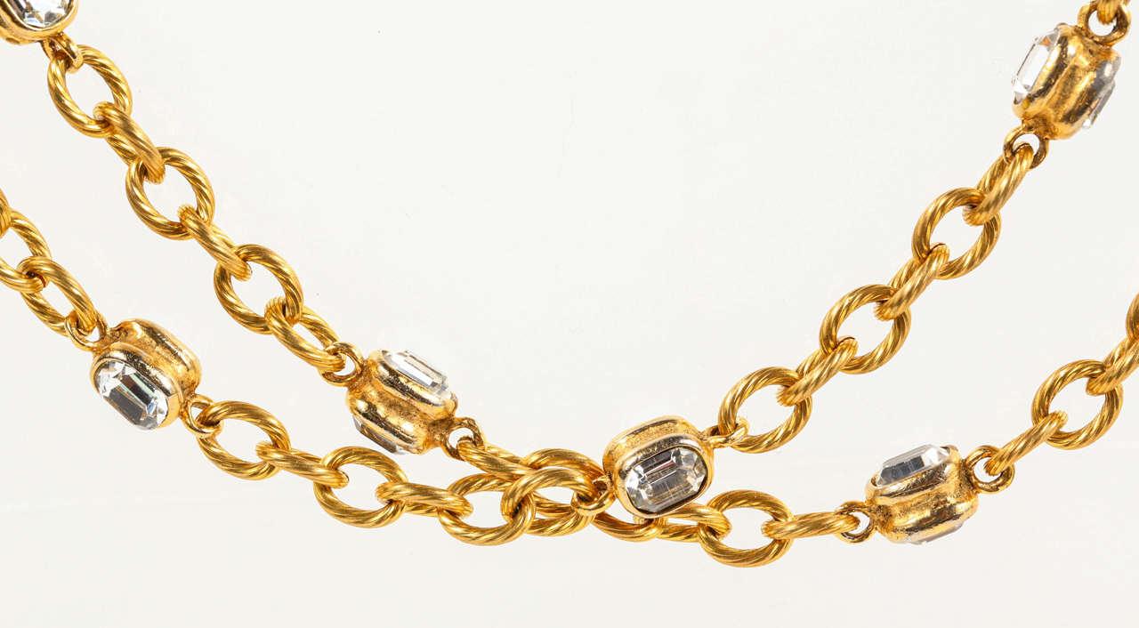 Chanel Gold Chain and Crystal Sautoir 4