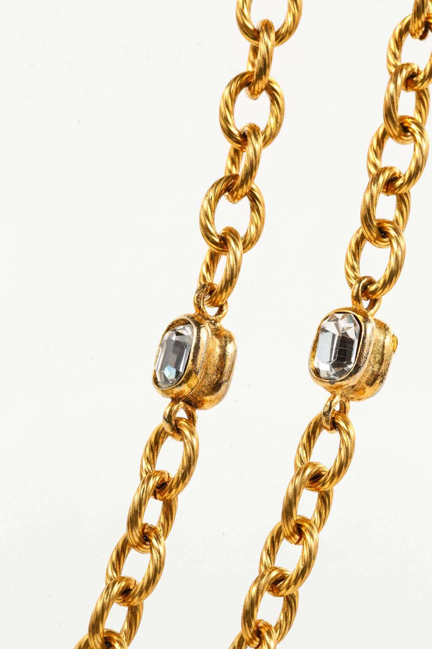 Chanel Gold Chain and Crystal Sautoir 8