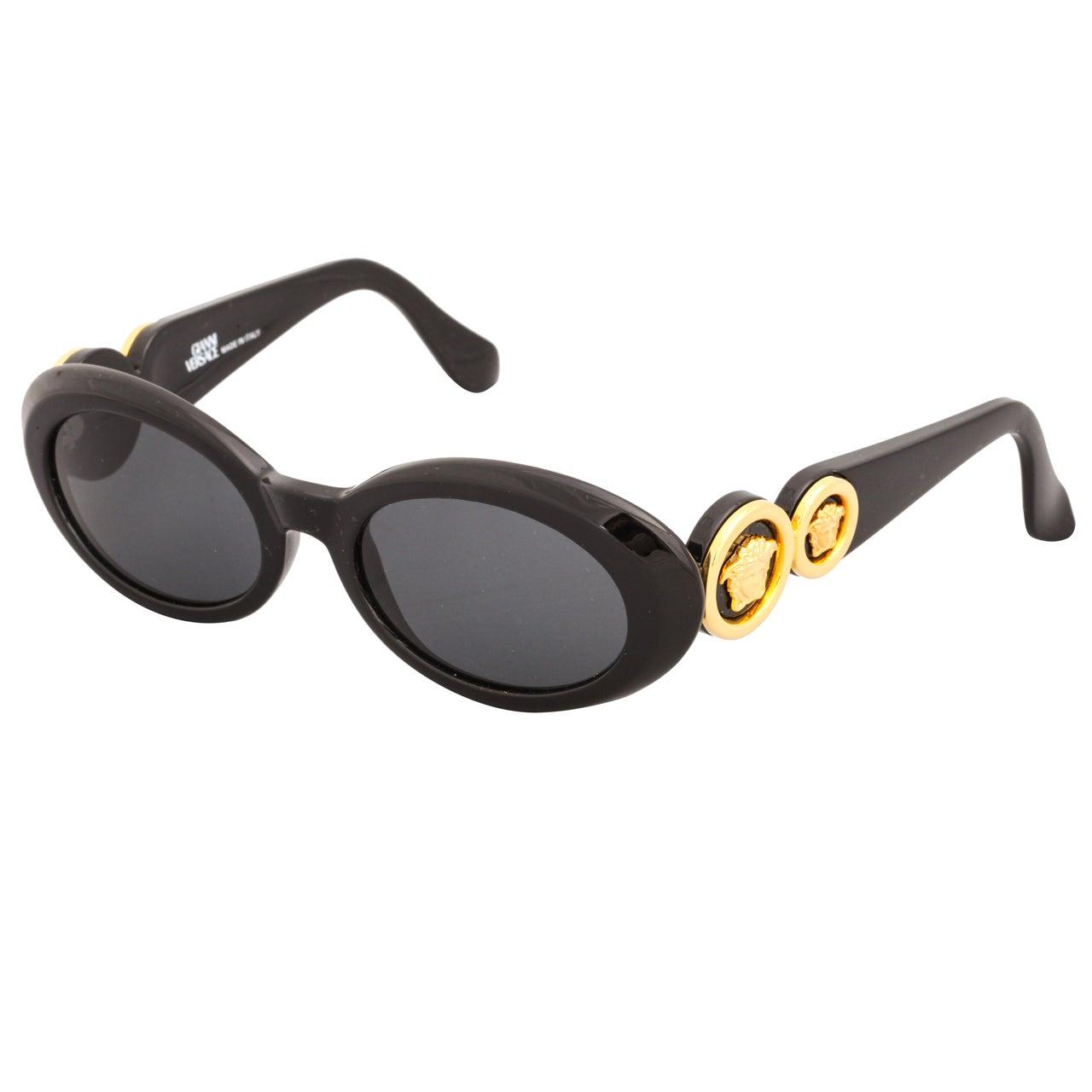 Greek Home Interiors Gianni Versace Medusa Sunglasses Mod 527 Col 852 For Sale