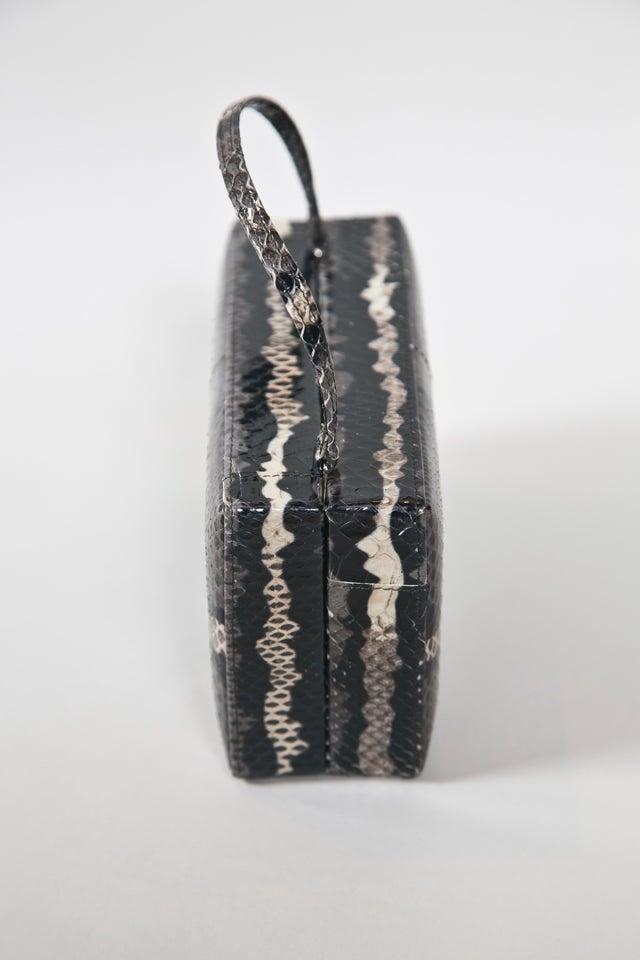 Black calvin klein skin colorblock handbag For Sale