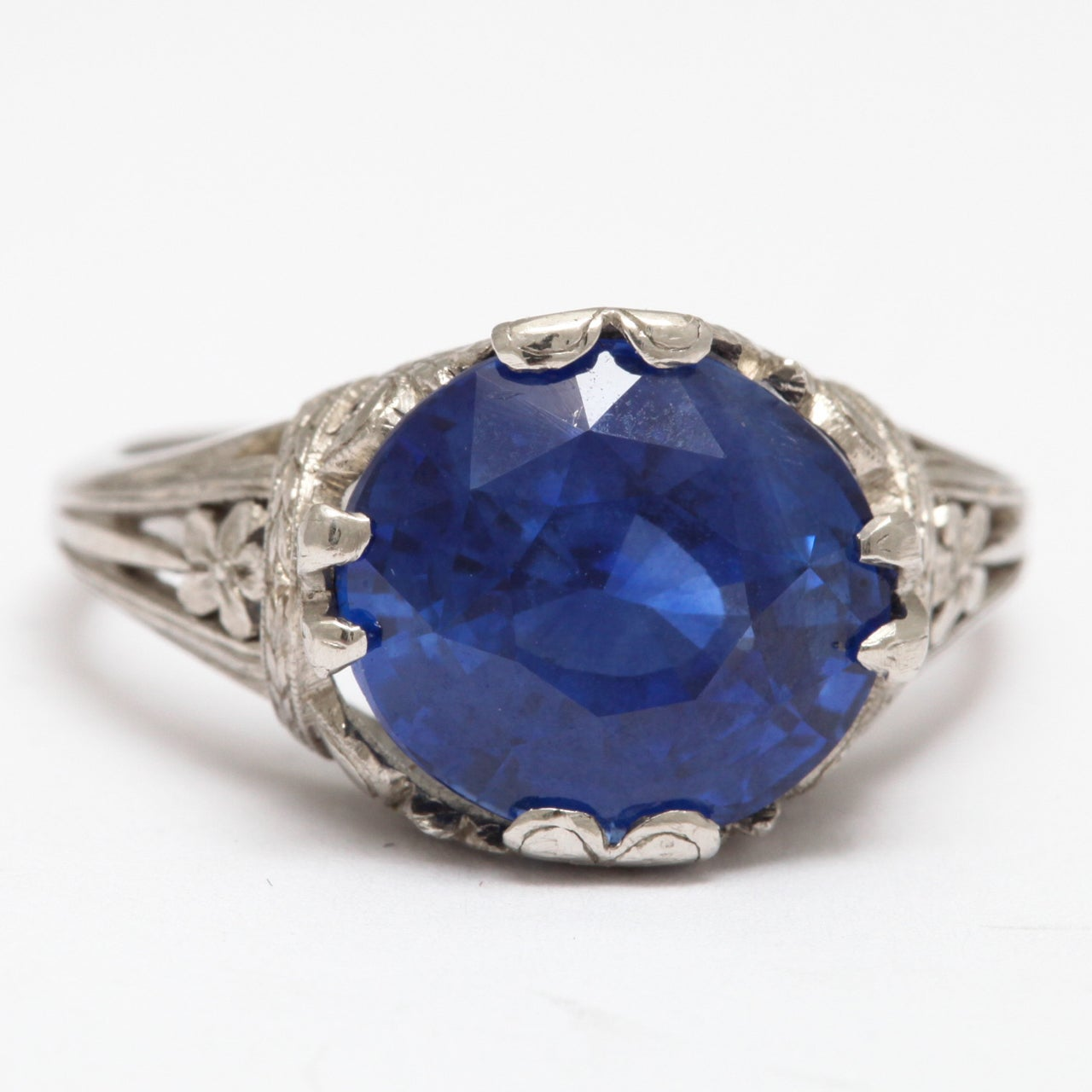 magnificent sapphire platinum ring at 1stdibs