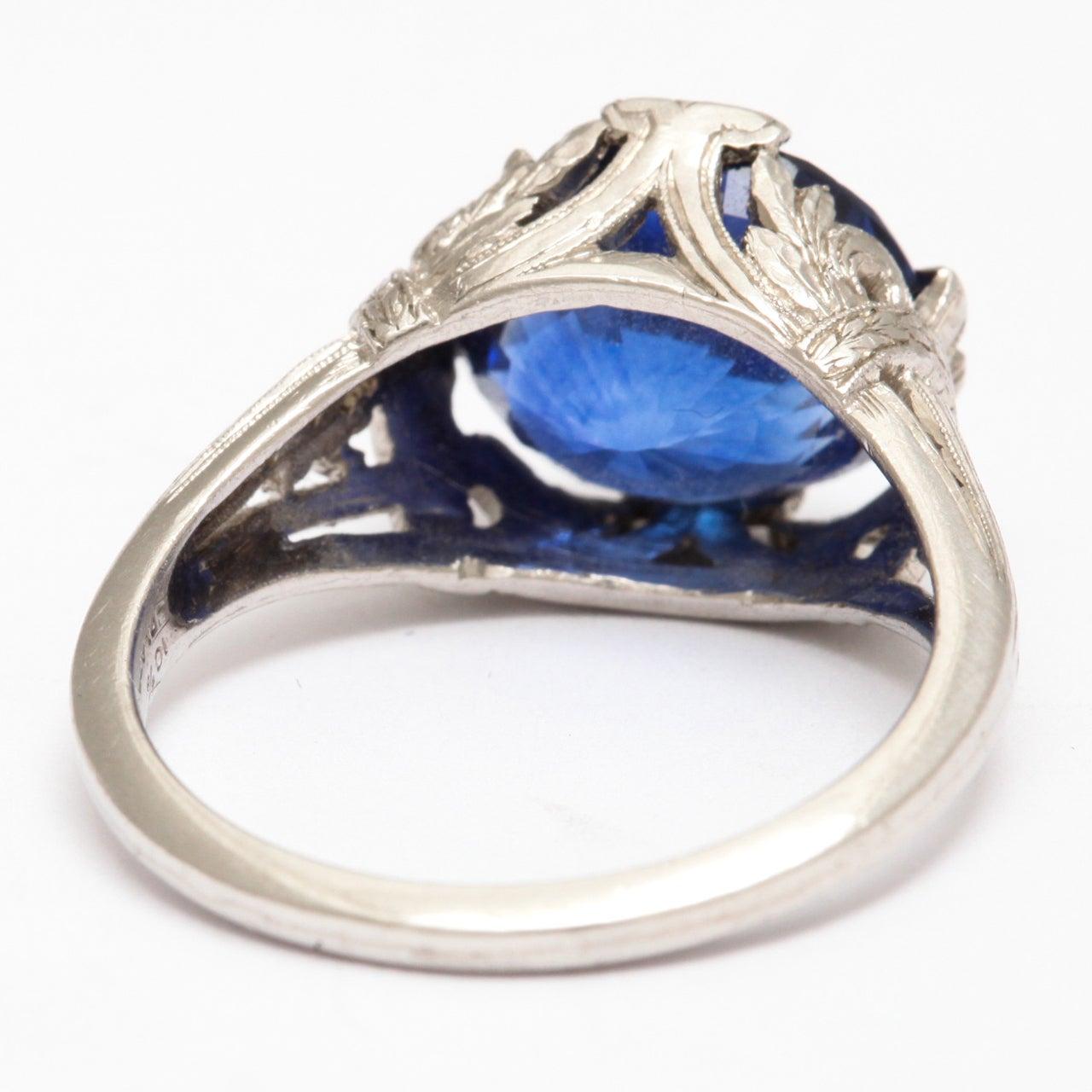 magnificent sapphire platinum ring at 1stdibs