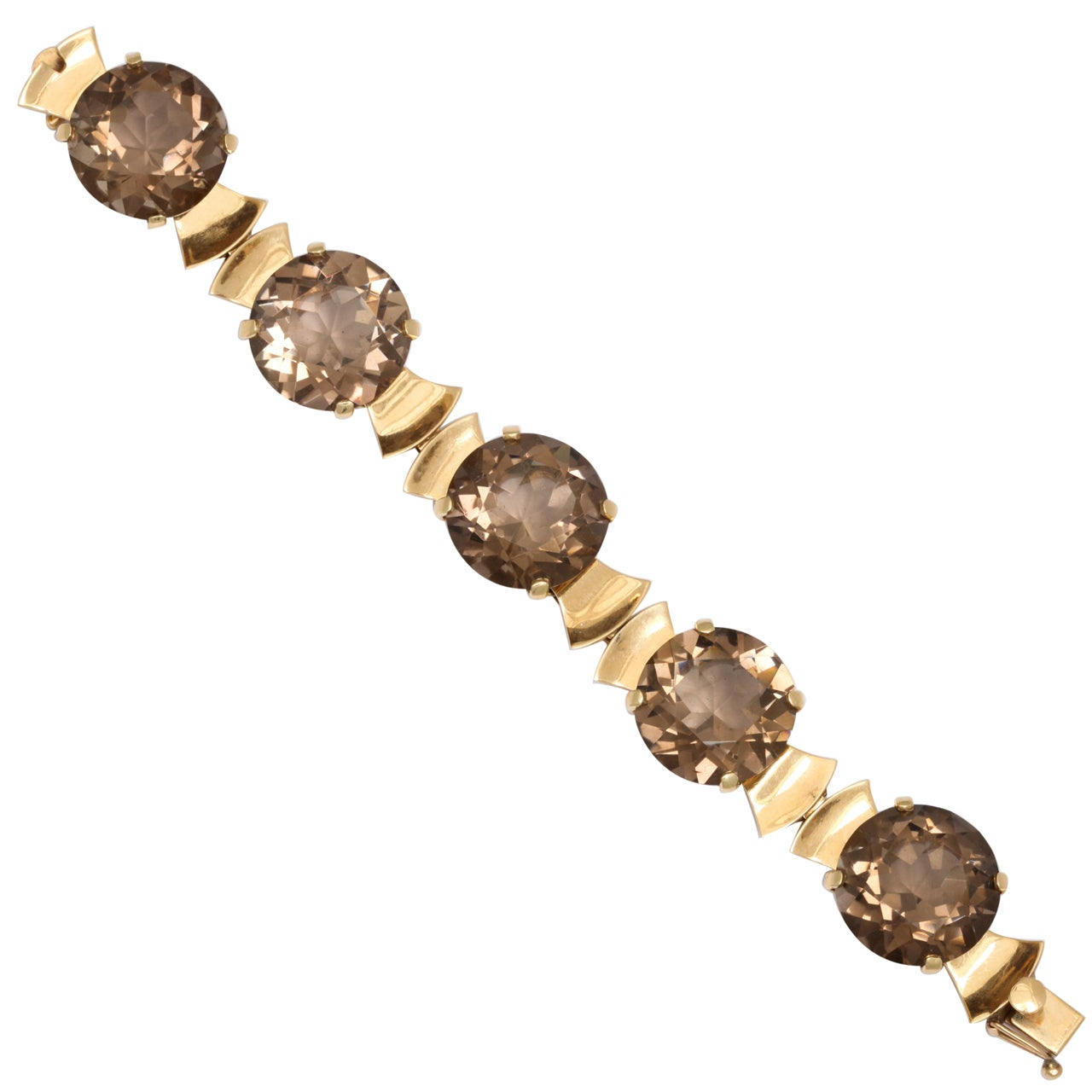 Retro Gold & Topaz Flashlight Bracelet