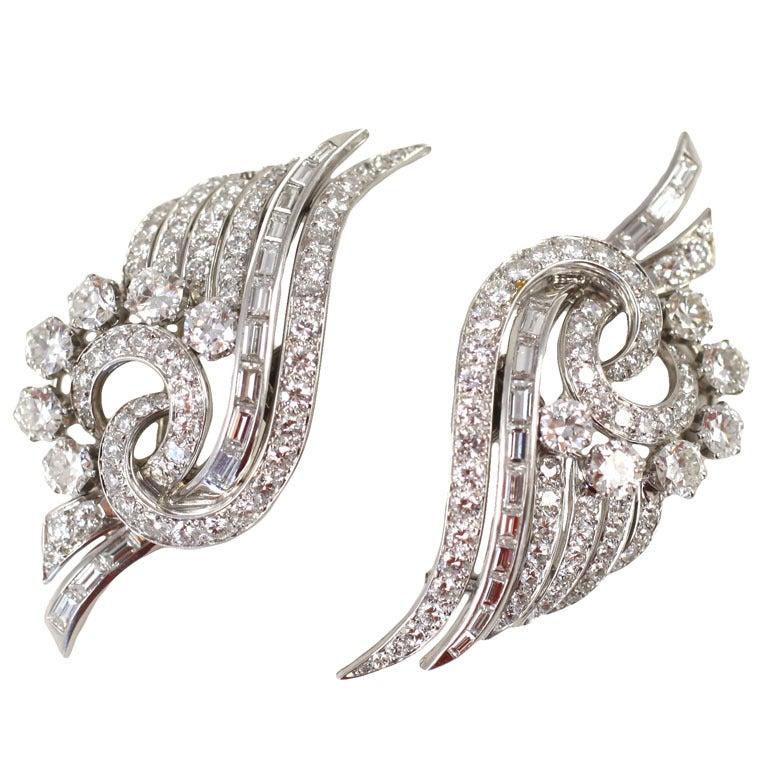 Spectacular Diamond Double  Clips