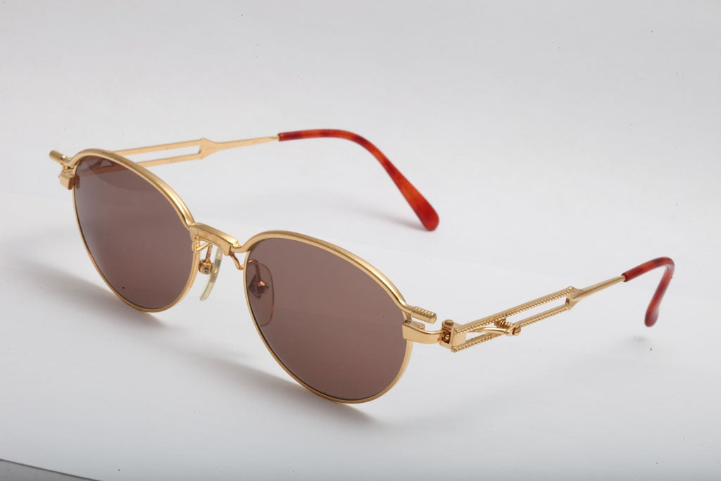 Gaultier Sunglasses  jean paul gaultier sunglasses 56 4172 gold at 1stdibs
