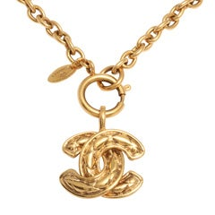 Chanel Quilted CC Necklace Medium