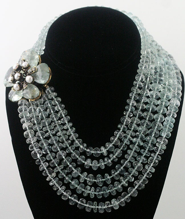 Iradj Moini Stunning Aquamarine Necklace In Excellent Condition For Sale In Palm Desert, CA