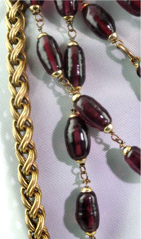 Chanel Rare Poured Glass and Gilt Metal Sautoir 3