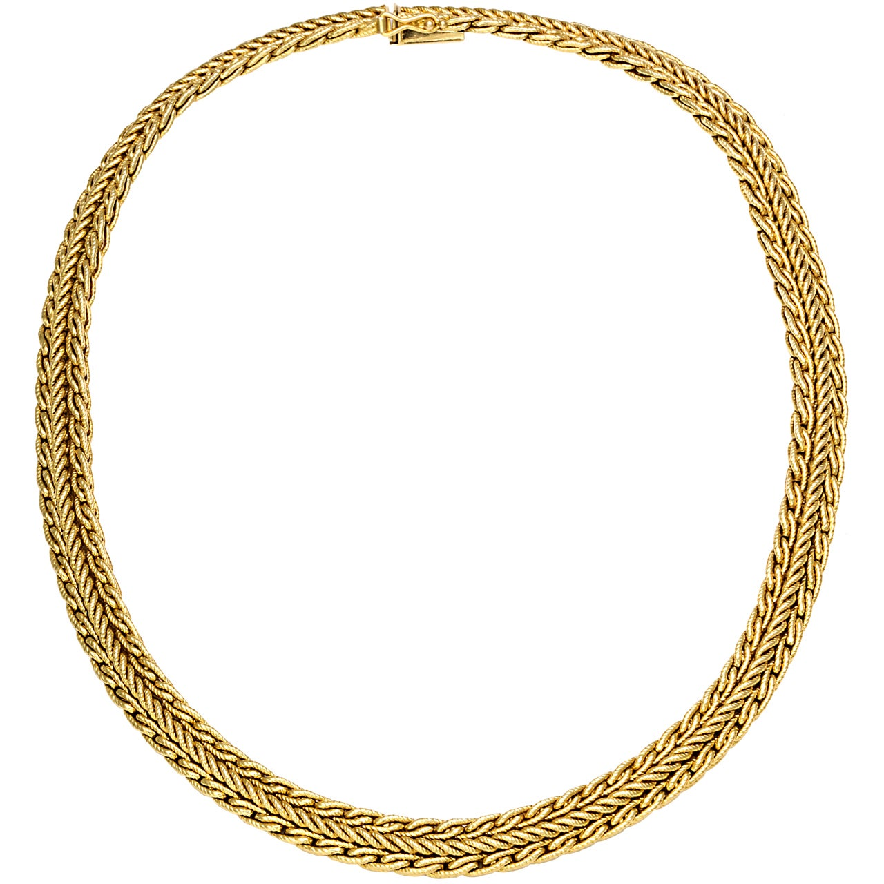and co gold herringbone necklace at 1stdibs