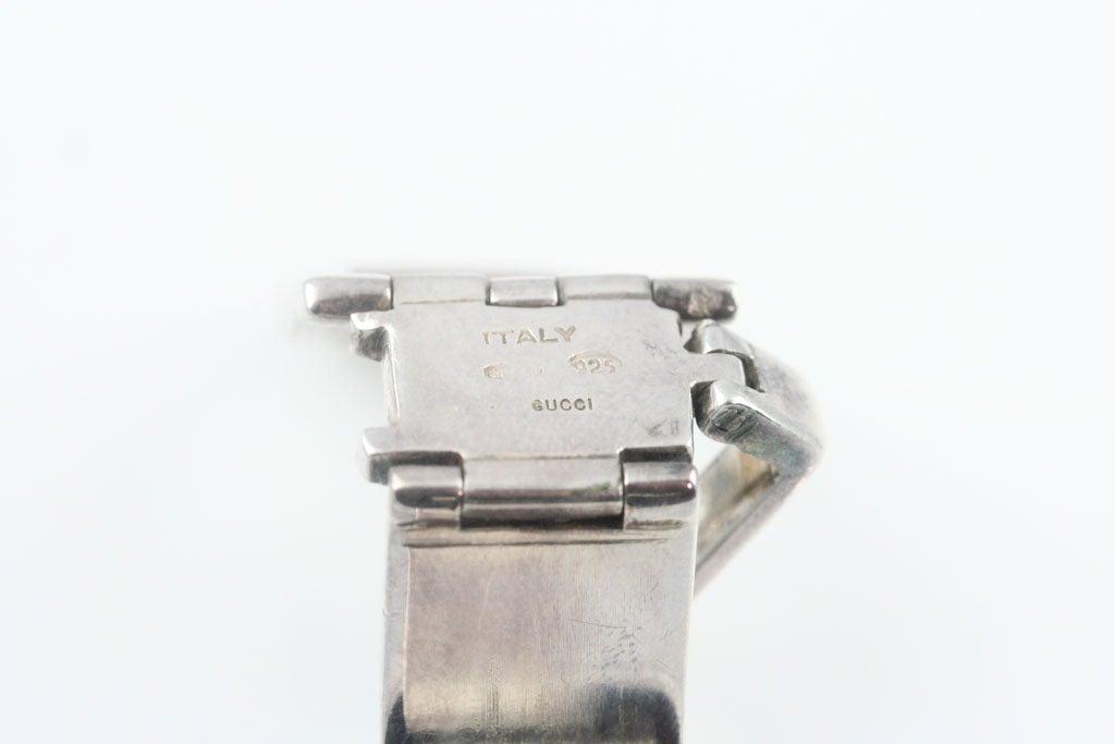 Gucci Enameled Sterling Silver Bracelet For Sale 3