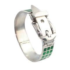 Gucci Enameled Sterling Silver Bracelet