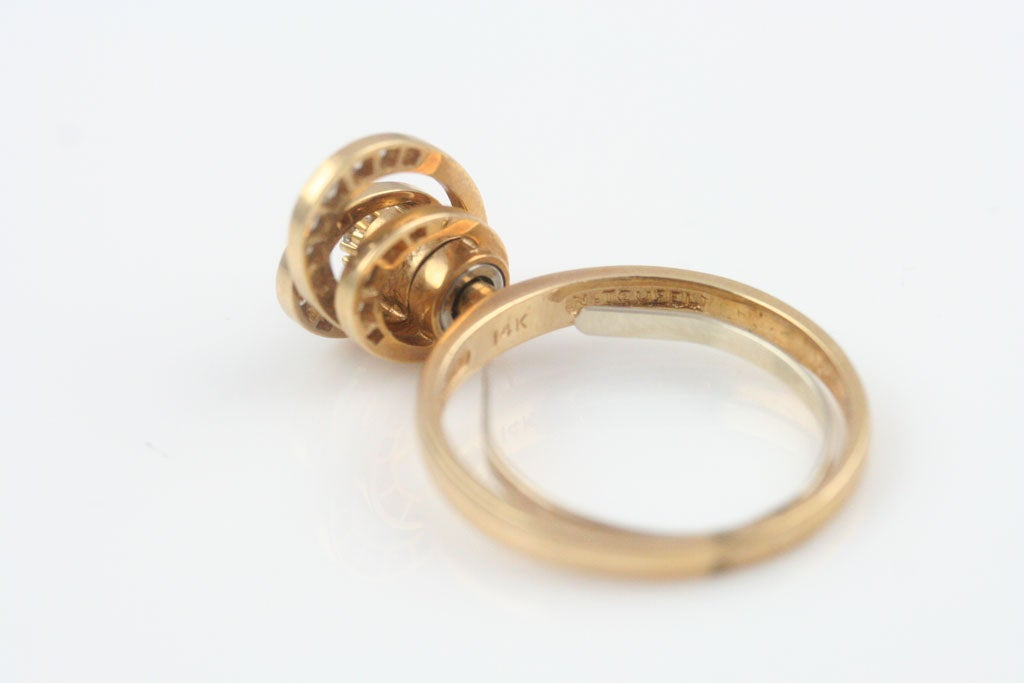 gold and spinner ring by norman teufel at 1stdibs