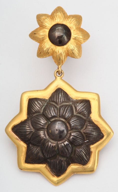 Sunflower Pendant Earrings 2
