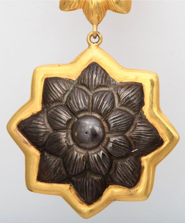 Sunflower Pendant Earrings 3