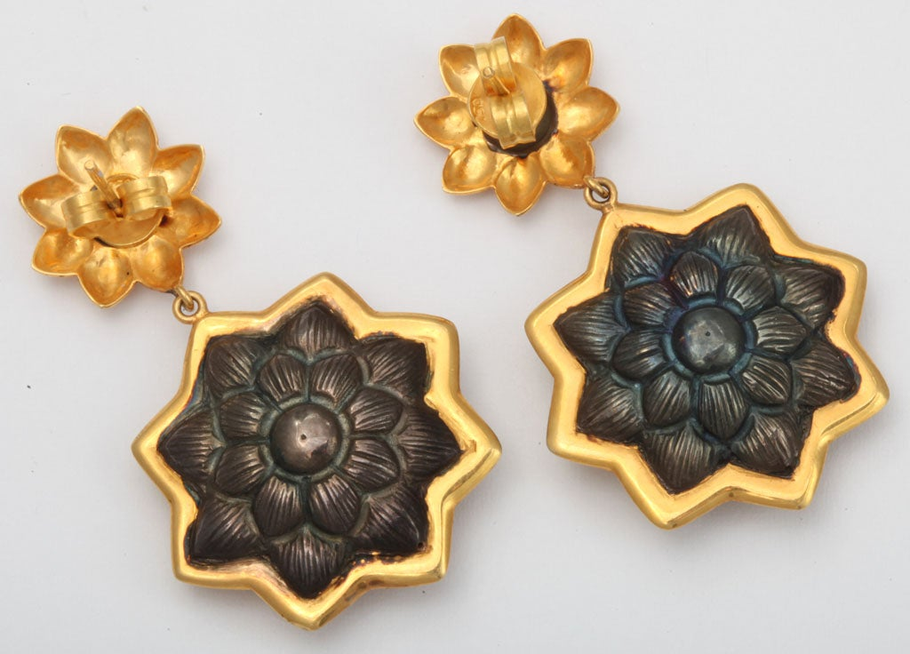 Sunflower Pendant Earrings 5