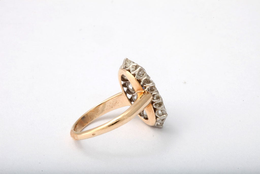 gold and platinum sapphire ring at 1stdibs