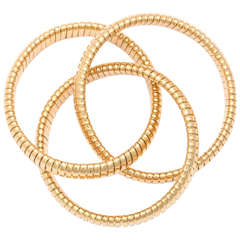 Yellow Gold Tubogas Rolling Bracelet
