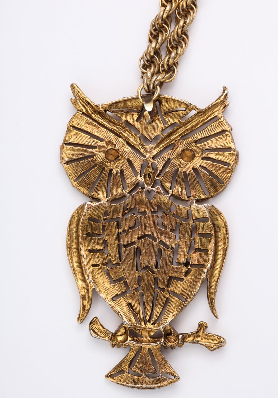 1960s Owl Pendant For Sale 1