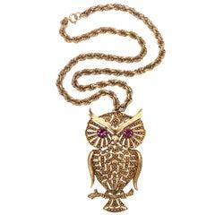 1960s Owl Pendant