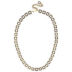 Black Square Link Necklace or Belt