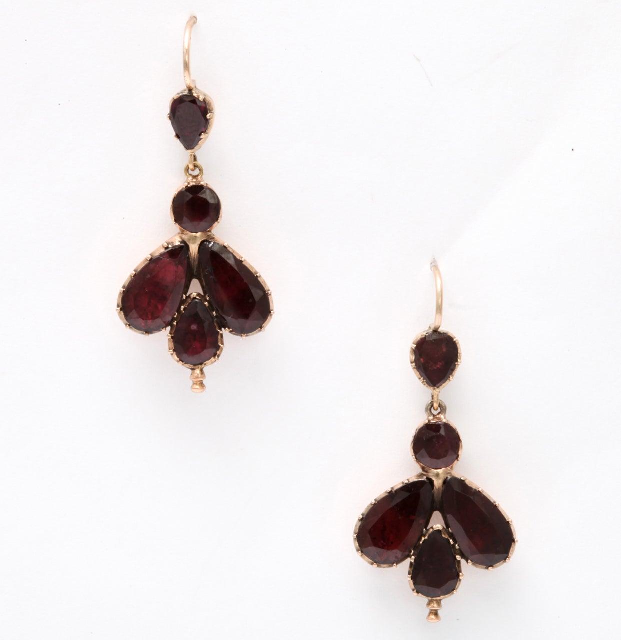 Early 19th Century Garnet Fly Earrings 2