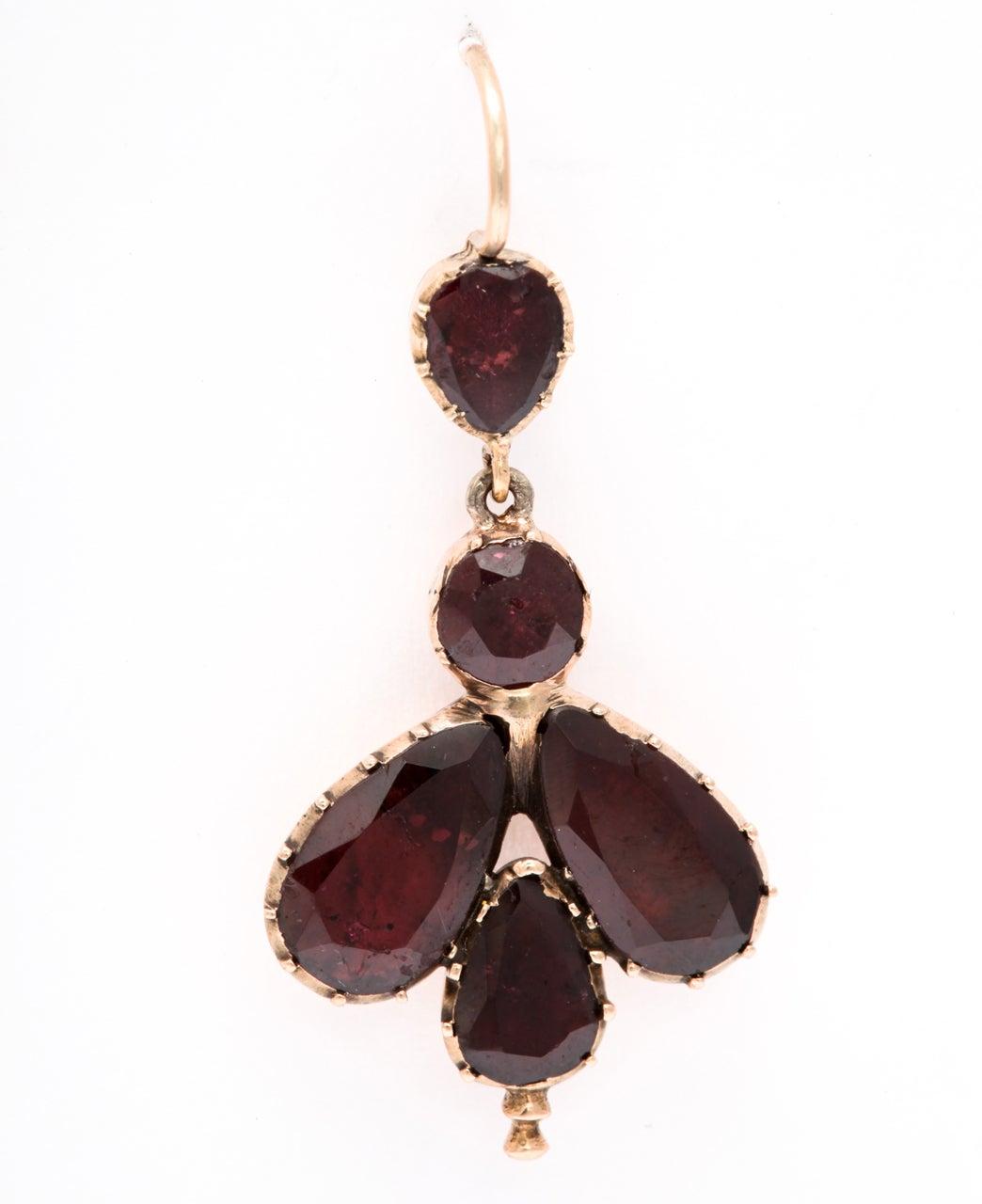 Early 19th Century Garnet Fly Earrings 3