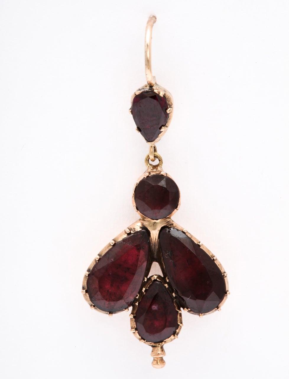 Early 19th Century Garnet Fly Earrings 4