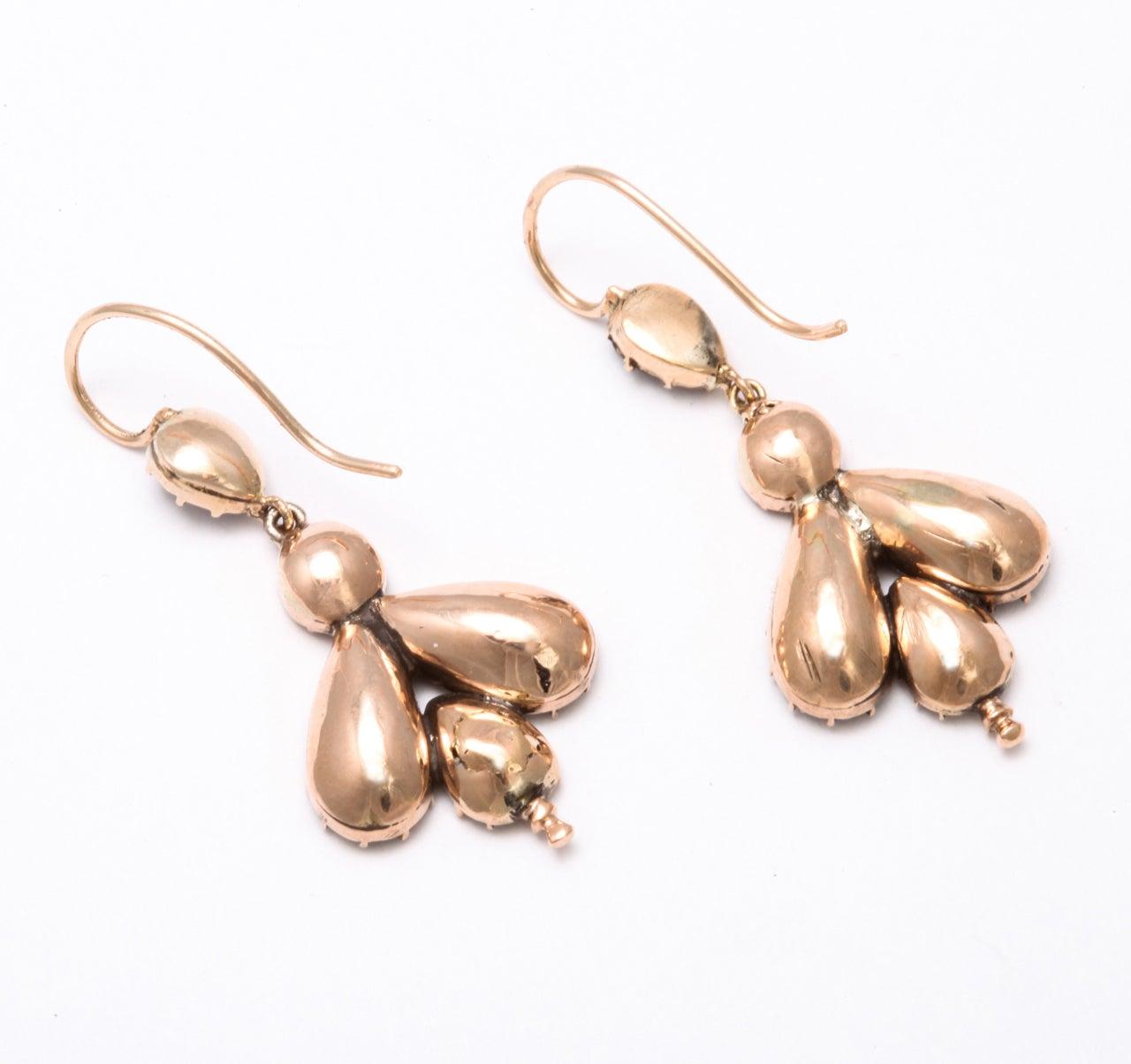 Early 19th Century Garnet Fly Earrings 5