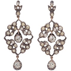 Snowdrops of Victorian Paste Earrings
