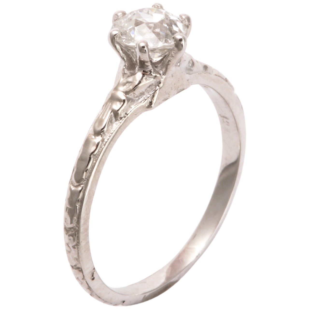 Delicate Lady Diamond Engagement Ring At 1stdibs
