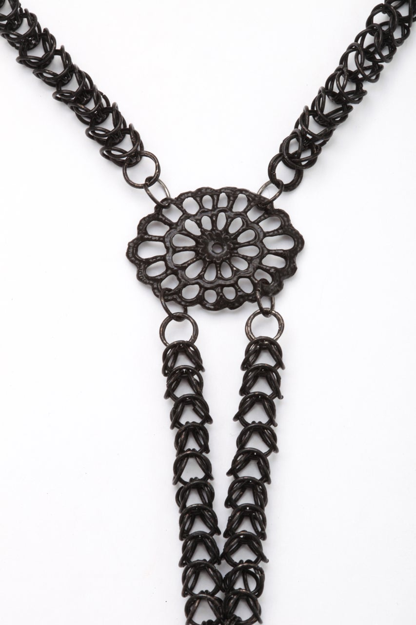 Antique Georgian Berlin Iron Chain and Cross c. 1820-30 For Sale 4