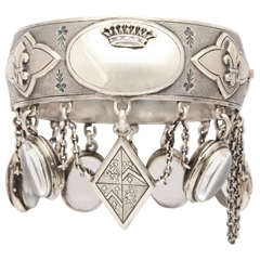 A Fantastic Charm Bracelet With Cartouche Made for a French Comtesse