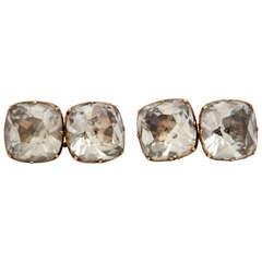 On the Cuff:  18th Century Rock Crystal Cufflinks