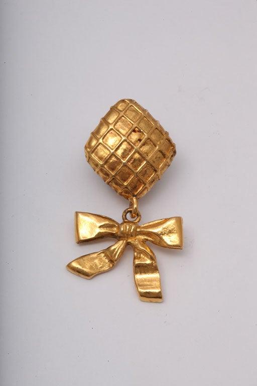 Chanel Bow Dangling Earrings 3