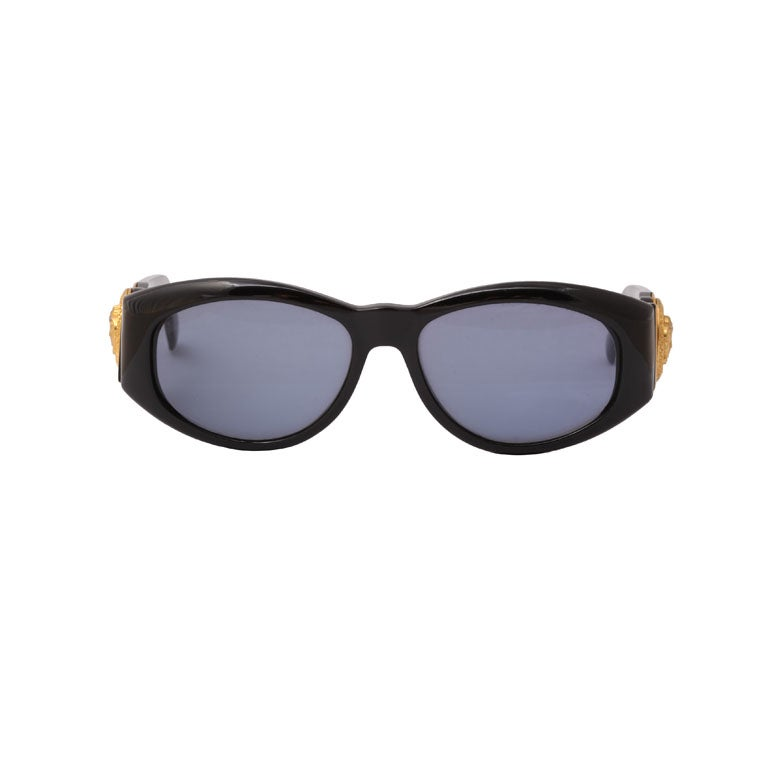 Gianni Versace Sunglasses Mod 424 Col 852 BK. This model was made popular by late rapper Notorious B.I.G.