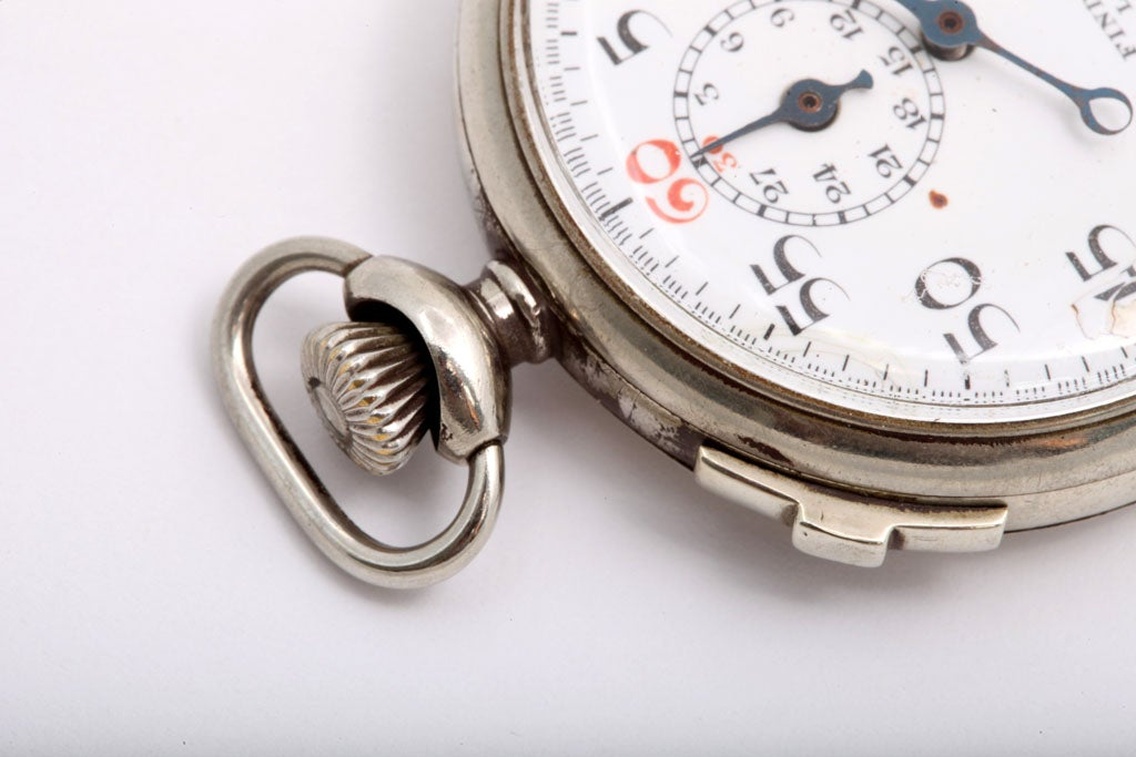 Women's or Men's Findlay & Co. Silver Plate Stopwatch For Sale