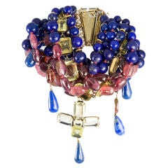 Exquisite Lapis Ruby and Citrine Bracelet by Iradj Moini