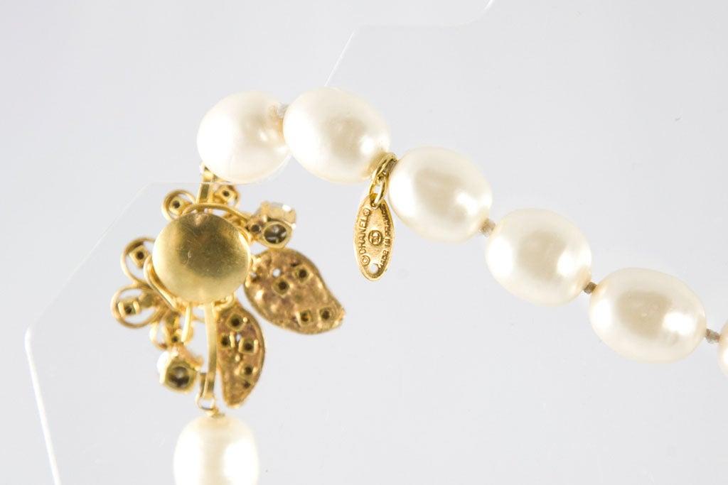 Chanel Stunning Pearl and Rhinestone Sautoir For Sale 2
