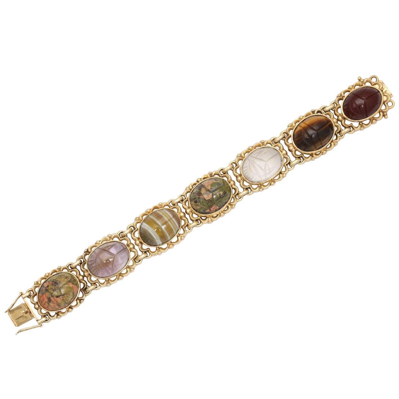 Gold Scarab Bracelet